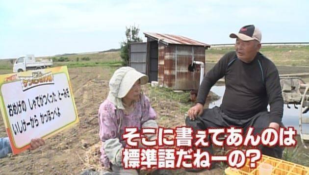 「おめげのしゃでがつくったとーみぎ」という、外国語ではなく茨城弁